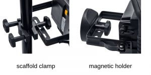 scaffold clamp or magnetic holder