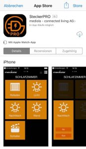 SteckerPRO app for controlling of the remote control set