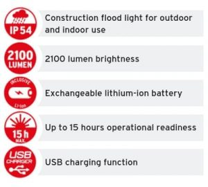 Mobile Rechargeable LED Floodlight BLUMO