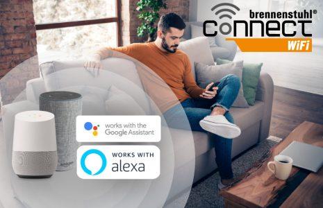 brennenstuhl Connect WiFi Steckdosen mit Sprachsteuerung Amazon Alexa und Google Assistant und Fernsteuerung mit kostenloser App