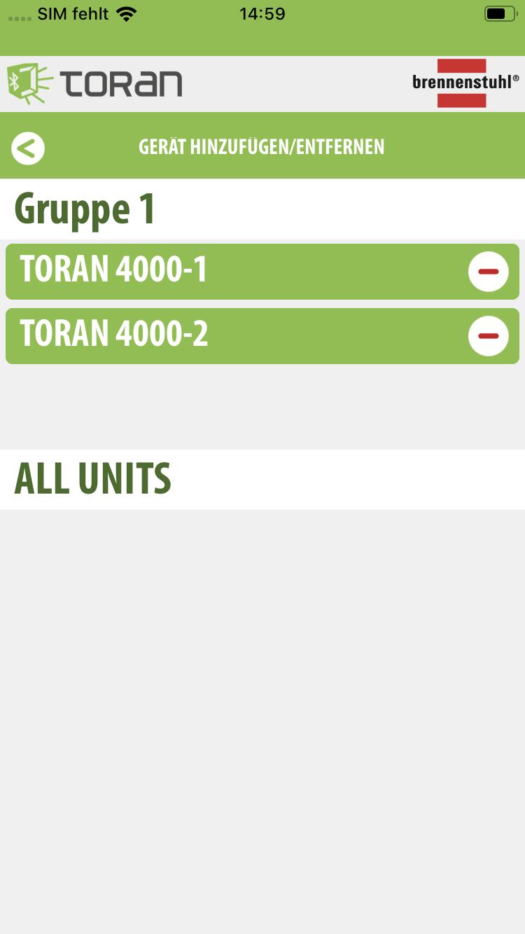 Mehrere LED Strahler TORAN können in einer App gesteuert werden