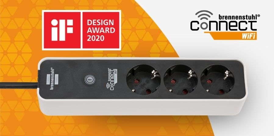 brennenstuhl Connect WiFi Steckdosenleiste - smarte WLAN Mehrfachsteckdose