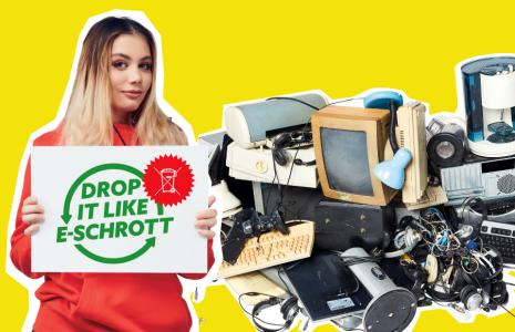 Kampagne Drop it like E-Schrott - Wie entsorge ich Elektrogeräte?