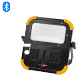BLUMO mobile battery-operated LED floodlight with Bluetooth speaker and rich sound