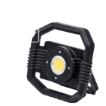 The DARGO hybrid LED floodlight with battery and mains operation – flexible, even without an electricity supply