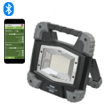 Smart light control on the construction site via app with the TORAN mobile LED floodlight